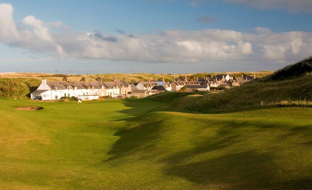 Campo de golf de Royal Aberdeen en Escocia