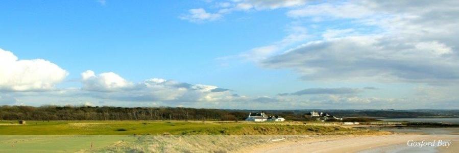 Campo de golf de Kilspindie en Escocia
