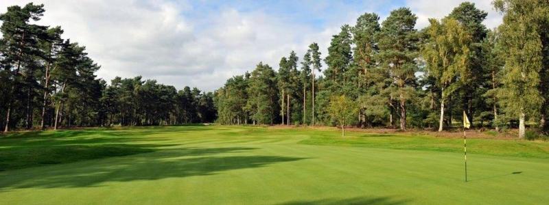 Green en el campo de golf de Blairgowrie (Rosemount) en Escocia