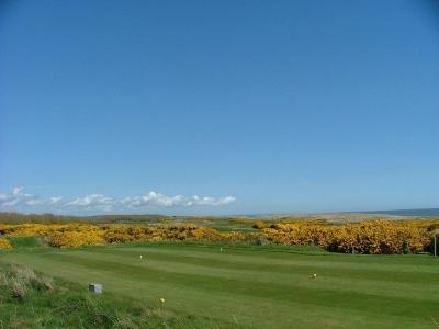 Fairway en el campo de golf de Royal Aberdeen en Escocia