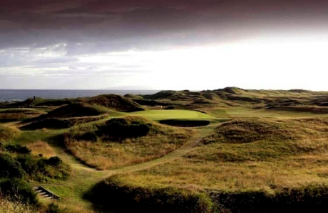 Campo de golf de Spey en Royal Troon 'Old course' en Escocia
