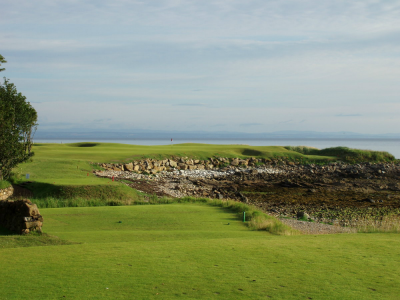 Green en campos de golf en St Andrews, Escocia